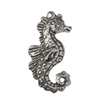 Green Girl Pewter Seahorse Pendant 39x21mm