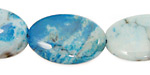 Brazil Blue Agate Flat Oval 27x18mm