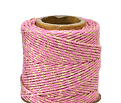 Pink & Metallic Gold Hemp Twine 20 lb, 205 ft