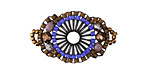 Passion Flower Hand Woven Baroque Circle 30x18mm