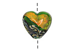 Grace Lampwork Herbal Garden Shimmer Heart 18-20mm