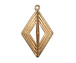 Zola Elements Matte Gold (plated) Open Diamond Focal 20x35mm