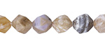 Dendritic Fossil Ocean Agate Star Cut Round 10mm