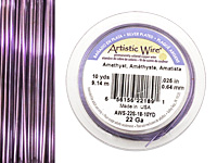 Artistic Wire Silver Plated Amethyst 22 gauge, 10 yards
