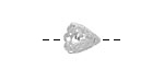 Amoracast Sterling Silver Paisley Cone 10x12mm