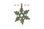 Patina Green Brass (plated) Snowflake 18x20mm