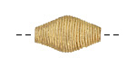 African Brass Corrugated Horse Eye 23-28x11-14mm