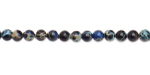 Midnight Blue Impression Jasper Round 4mm