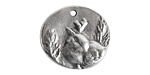 Nunn Design Antique Silver (plated) Shenandoah Charm 25x23mm