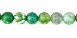 Parrot Green Fire Agate Round 8mm