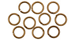 Antique Brass (plated) Round Jump Ring 8mm, 18 gauge