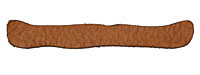 Lillypilly Camel Leather Large Bar 9x61mm