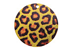 Leopard Etched & Printed Gold Finish Coin Focal 30mm