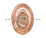 Czech Glass Rose Gold Oval Button 24x34mm