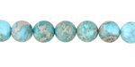 Ocean Blue Impression Jasper Round 8mm