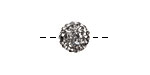 Black Diamond Pave (w/ Preciosa Crystals) Round 10mm
