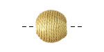 Metallic Gold Thread Wrapped Bead 14mm