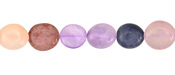 Multi Stone (Amethyst, Rose Quartz, Strawberry Quartz, Dumortierite) Tumbled Nugget 8-11mm