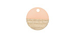 Wood & Blossom Resin Coin Focal 15mm