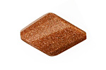 Goldstone Faceted Twisted Diamond 30x20mm