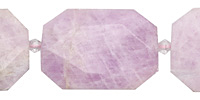 Kunzite Faceted Flat Slab 28-40x25-30mm