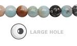 Black Gold Amazonite Round (Large Hole) 8mm
