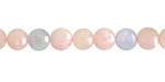 Multi Beryl Faceted Puff Coin 6-7mm