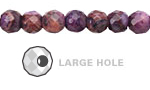Purple Crazy Lace Agate Faceted Round (Large Hole) 8mm