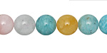 Multi Stone (Amazonite & Multi Beryl) Round 10mm
