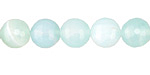 Seafoam Line Agate Faceted Round 10mm