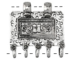 Antique Silver (plated) Decorative Plaque 2-5 Focal 38x40mm