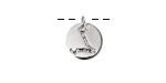 Rhodium (plated) w/ Crystals Pisces Constellation Charm 11x13mm
