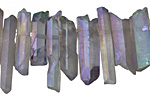 Quartz w/ Lavender AB (matte) Points 3-7x14-28mm