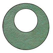 Lillypilly Lime Green Leather Large Open Round 50mm
