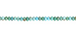 Hubei Turquoise Tiny Faceted Saucer 2x3mm