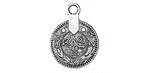 Zola Elements Antique Silver (plated) Coin Charm 19x25mm