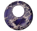 Purple Impression Jasper Coin Pendant 40mm