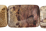 Coffee Bean Jasper Thin Pillow 35x25mm