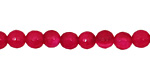 Ruby Red Agate Faceted Round 6mm