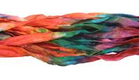 "Aztec Hand Dyed 100% Habotai Silk Ribbon 1/2""-1"""