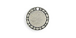 Vintaj Artisan Pewter Diamond Circle Blank 15mm