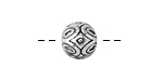 Zola Elements Antique Silver (plated) Daisy Capped Round 12mm
