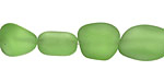 Peridot Recycled Glass Small Nugget 12-17x10-12mm