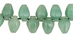 Green Aventurine Carved Tulip Drops 8x12mm