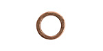 Nunn Design Antique Copper (plated) Small Hammered Circle 17.5mm