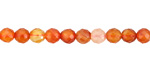 Carnelian (natural) Faceted Round 6mm