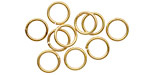 Satin Hamilton Gold (plated) Soldered Jump Ring 8mm, 18 gauge
