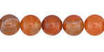 Orange Fire Agate Round 10mm