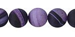 Purple Line Agate (matte) Round 12mm