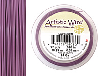 Artistic Wire Lavender 24 gauge, 20 yards